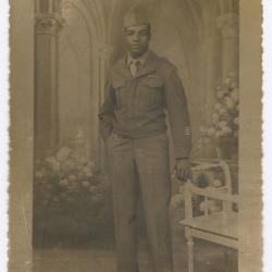 James Earl Hamilton In Military Uniform