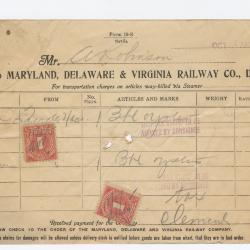 Abraham Robinson Shipping Bill, 1915 October 4