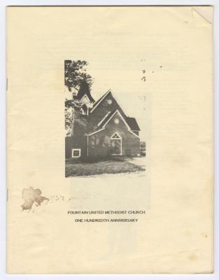 100th Anniversary for Fountain United Methodist Church program