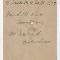 Receipt for Abraham Robinson, 1915 August 23