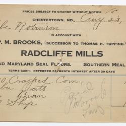 Radcliffe Mills Bill, 1915 August 23