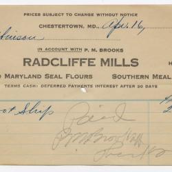 Radcliffe Mills Bill, 1917 April 16