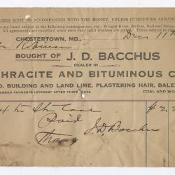 Bacchus Coal Statement, 1916 December 11