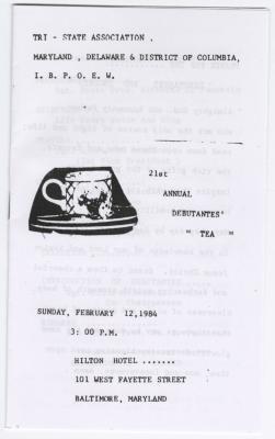 """21st Annual Debutantes' Tea"""