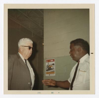 """Pop"" Boyer and Rev. Paul Hilton, 1969 July"