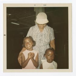 Annie Hines and grandchildren