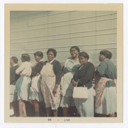Women workers outside