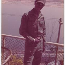 Soldier Standing on a Balcony