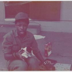 Soldier with a Puppy and Scrabble