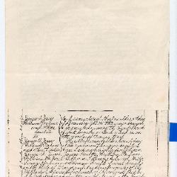 Handwritten deed for Janes M.E. Church, December 3, 1885
