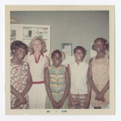 Vanessa Somex, Mrs. Taseh, Renee Cann, Sharon Elias, and Donna Thompson in the VITA Foods first aid room