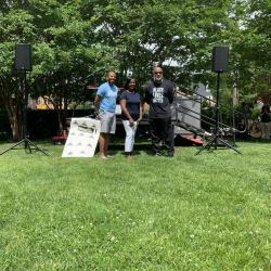 Three People Pictured at Juneteenth Celebration