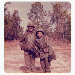 Eleanor Rochelle Ringgold and friend in uniform