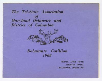 Tri-State Association of Maryland Delaware and District of Columbia Debutante Cotillion 1968