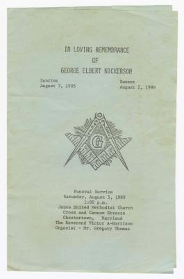 Obituary of George Elbert Nickerson