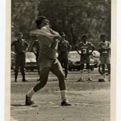 Eleanor Rochelle Ringgold playing baseball