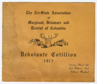 Tri-State Association of Maryland Delaware and District of Columbia Debutante Cotillion 1972